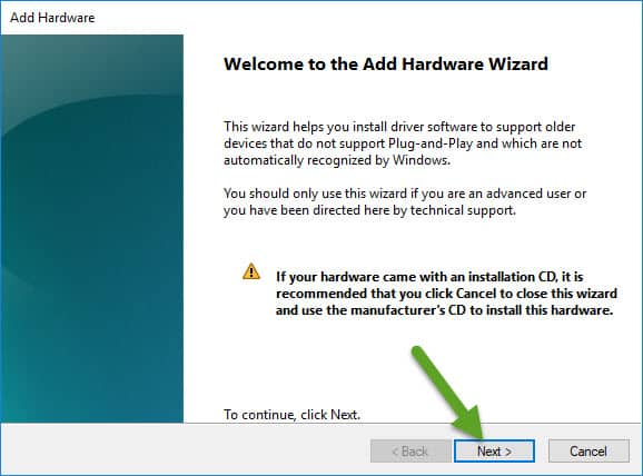 Add Hardware Wizard Broadcom Driver