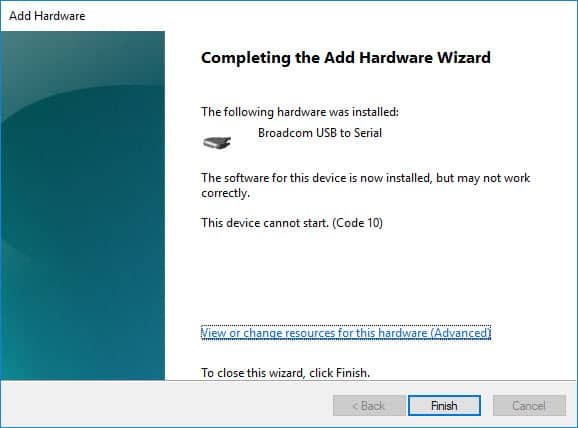 Successfully Installed Broadcom Driver