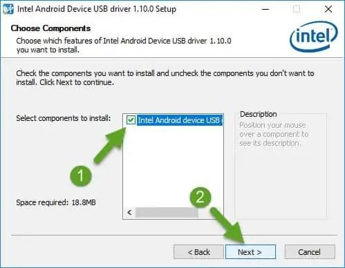 Choose Components Intel Driver