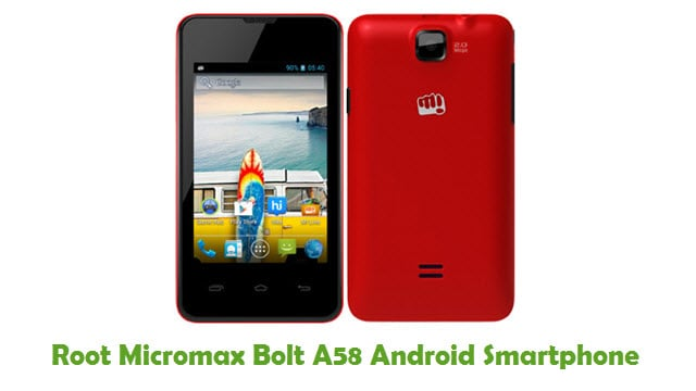 Root Micromax Bolt A58