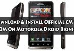 Install Official CM13 ROM On Motorola Droid Bionic