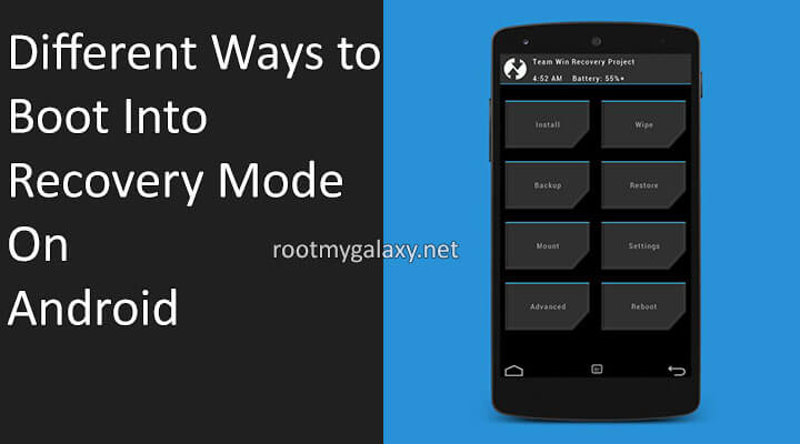 Different Ways to Boot Into Android Recovery