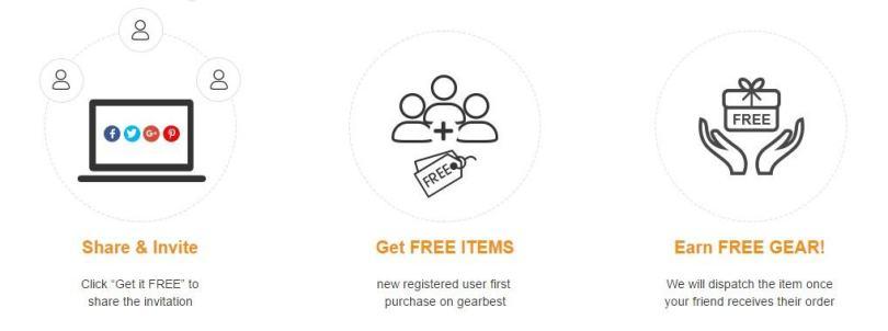 Get Cool stuff for free stuff Gearbest