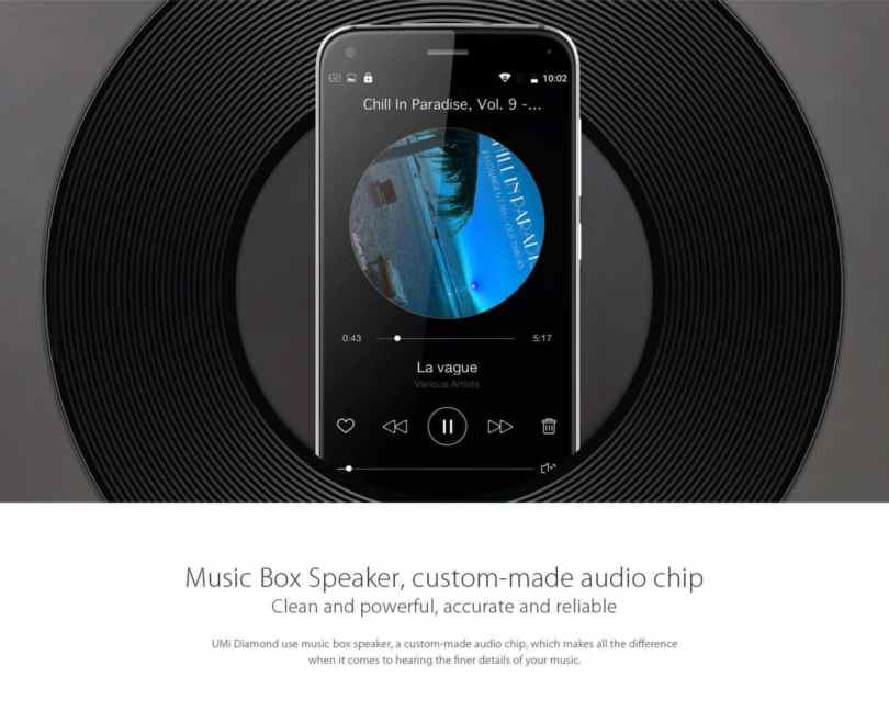 UMi Diamond 4G Smartphone extra features