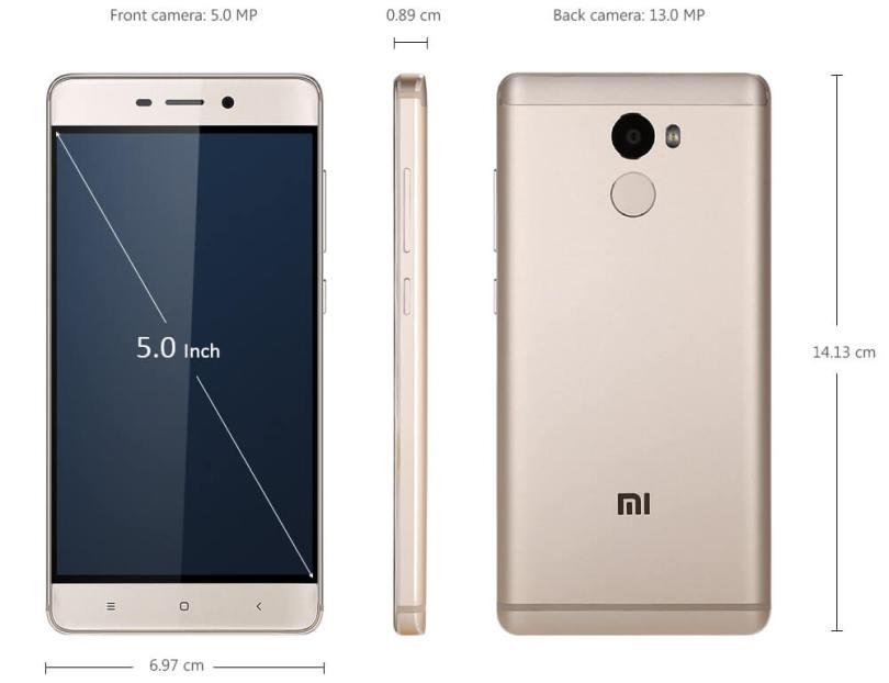 Xiaomi Redmi 4 4G Smartphone Design