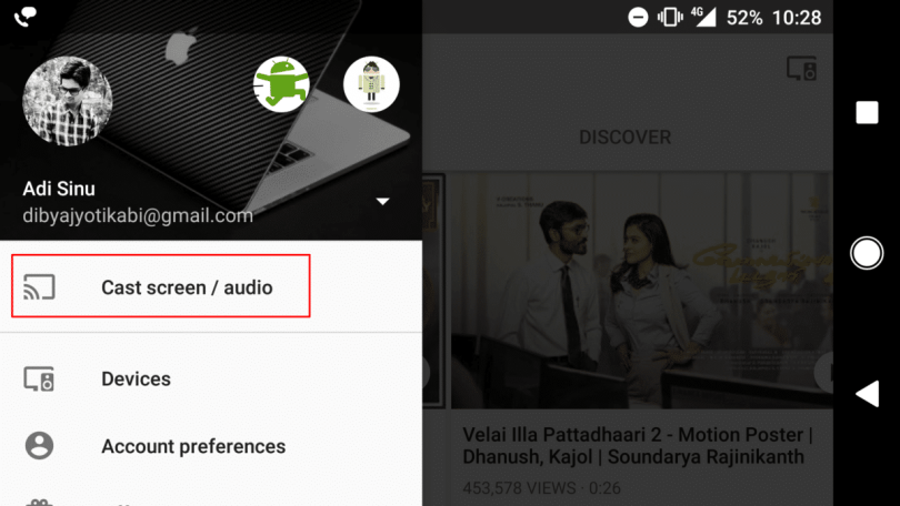 mirror your Android screen with Chromecast