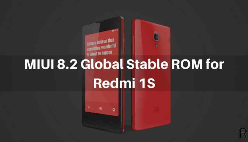 MIUI 8.2 Global Stable ROM on Redmi 1s