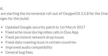 OnePlus 2 OxygenOS 3.5.8