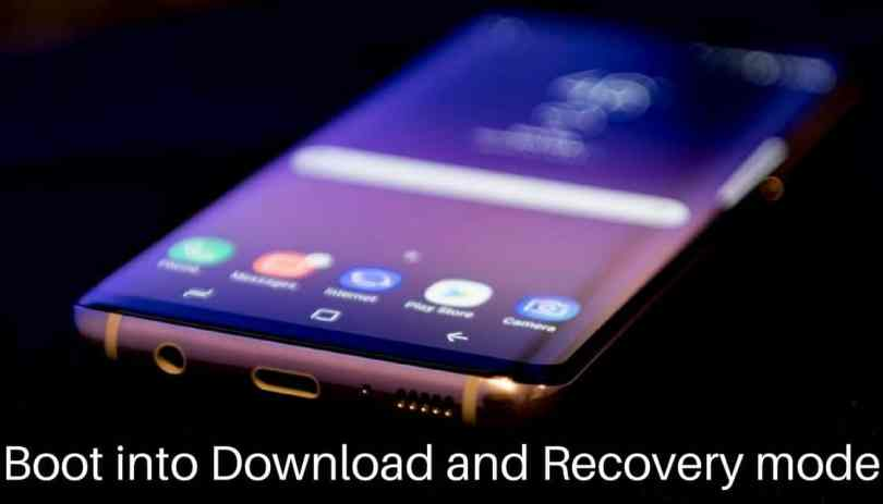 boot Galaxy S8 and S8 Plus into download and recovery mode
