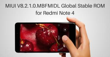 MIUI V8.2.1.0 Global Stable ROM on Redmi Note 4 MTK