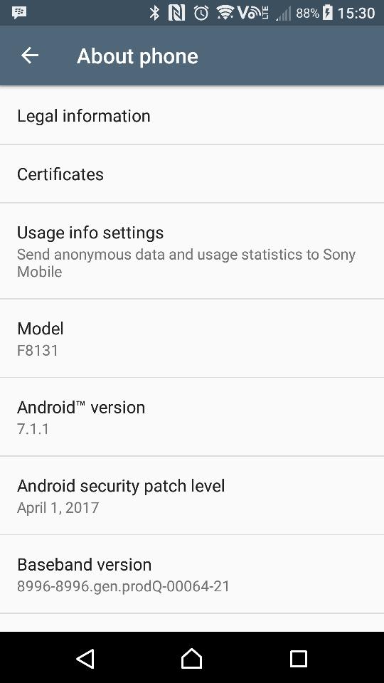 Sony Xperia X Performance update