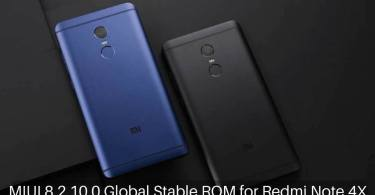 MIUI 8.2.10.0 Global Stable ROM on Redmi Note 4X