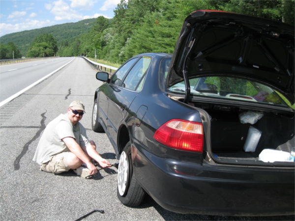 We couldn't have picked  a more scenic place to have a flat tire!