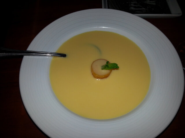 Chilled mango soup
