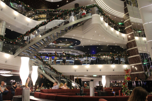 The Atrium connects all the interior common areas of the ship.