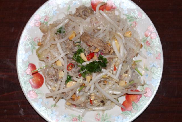 Thai pork cucumber salad