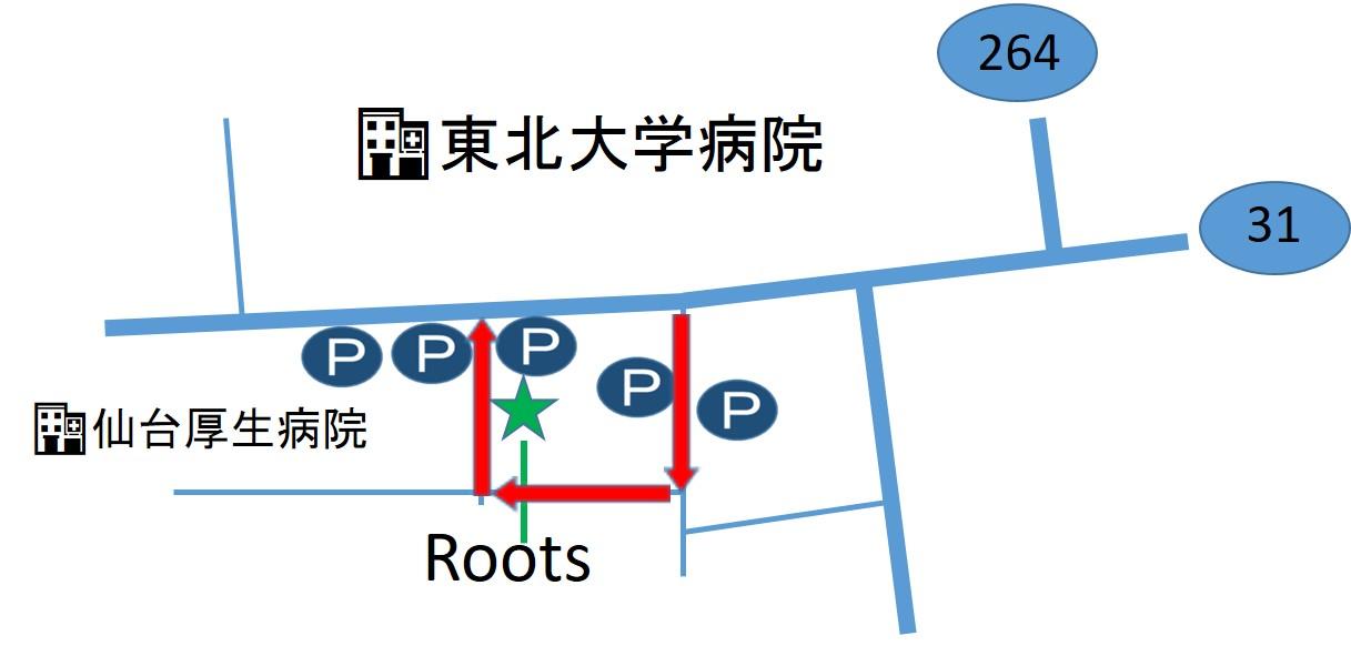 仙台の整体で筋膜を施術するルーツへの道順3