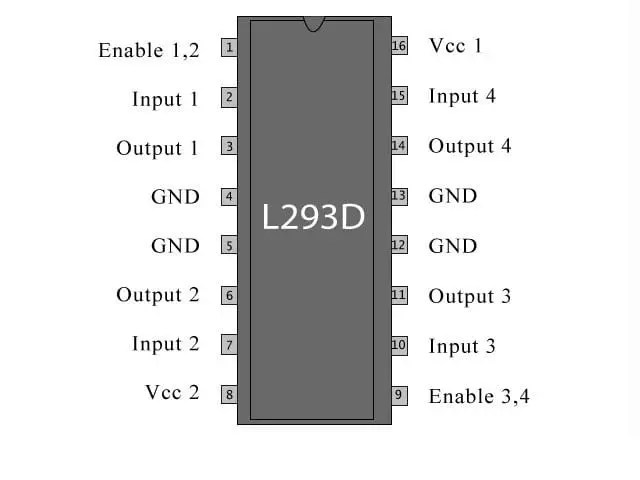L293d for Line Following Robot Arduino