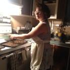 Rebecca cleans up