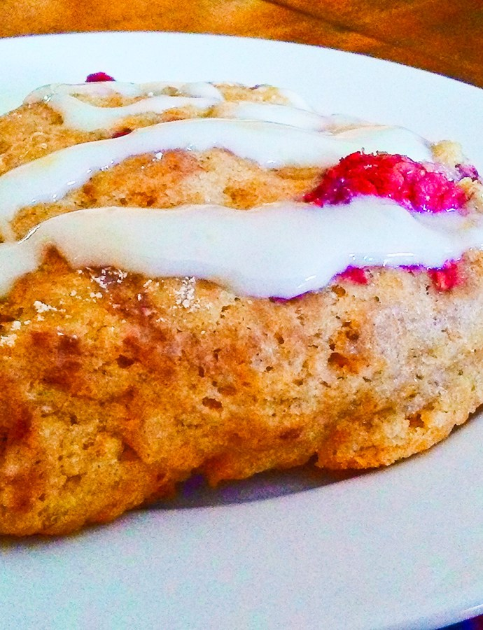 Glazed Lemon Raspberry Scones