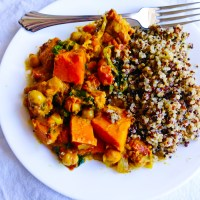 Spinach & Sweet Potato Curry