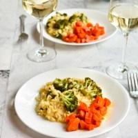 Garlic Parmesan Risotto & Broccoli