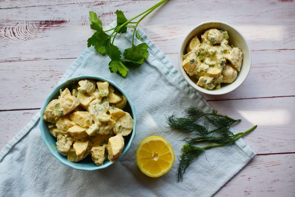 Tangy Vegan Potato Salad