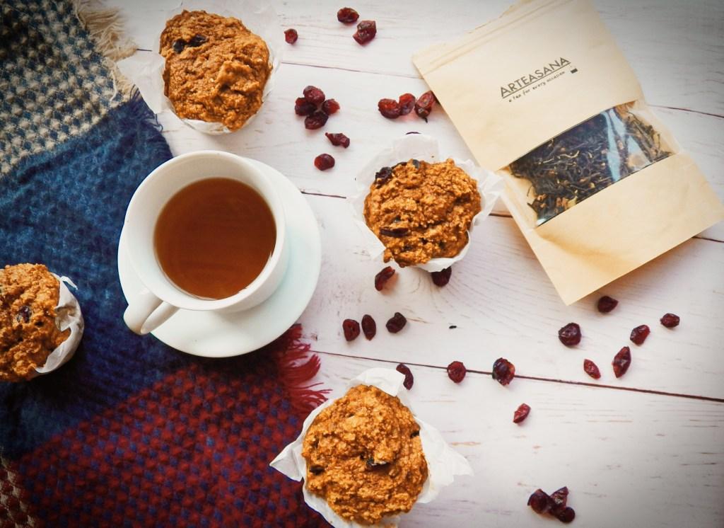 Sweet potato cranberry muffins