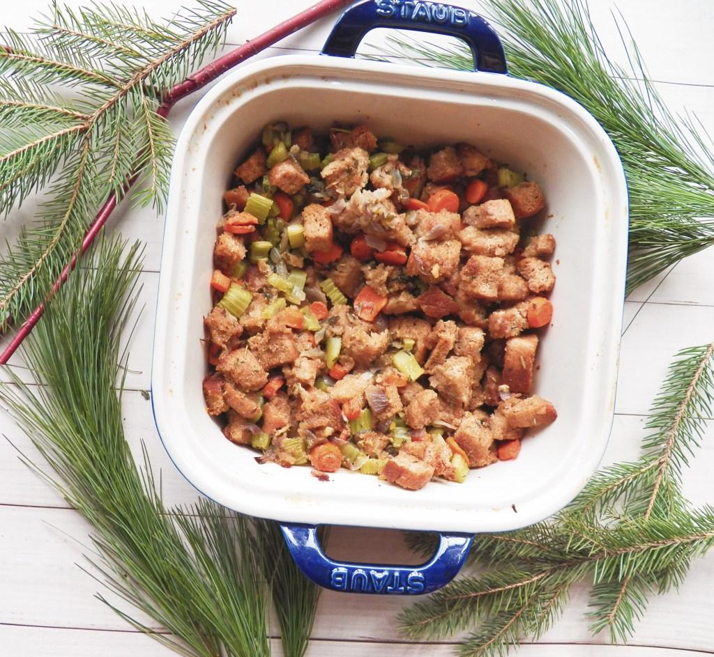 Homemade Vegan Holiday Stuffing