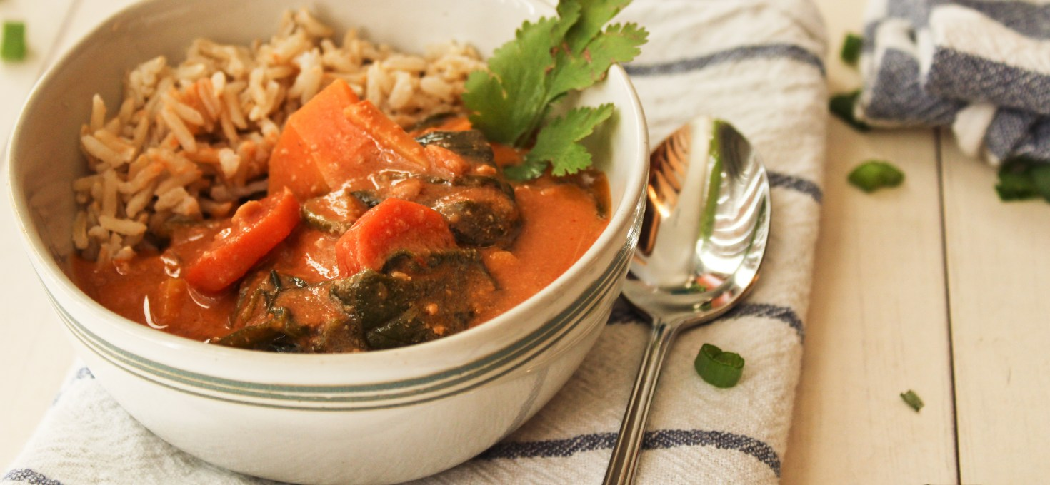 Vegan African Peanut Stew with Coconut Rice