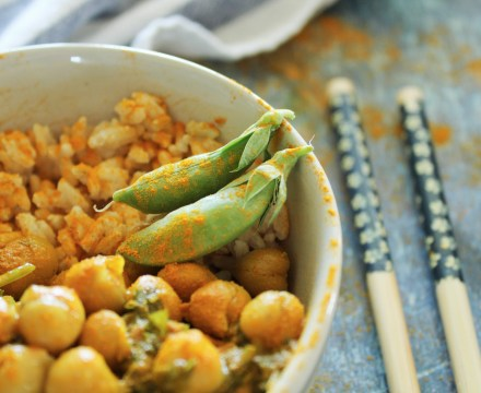 Herbal Chickpea Stew with Coconut Rice