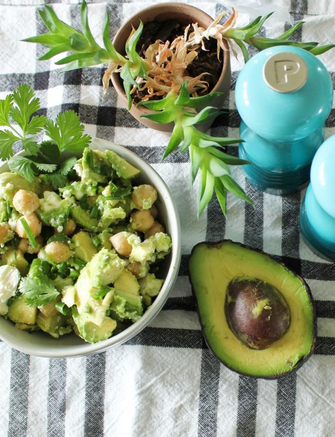 Avocado Feta Chickpea Salad