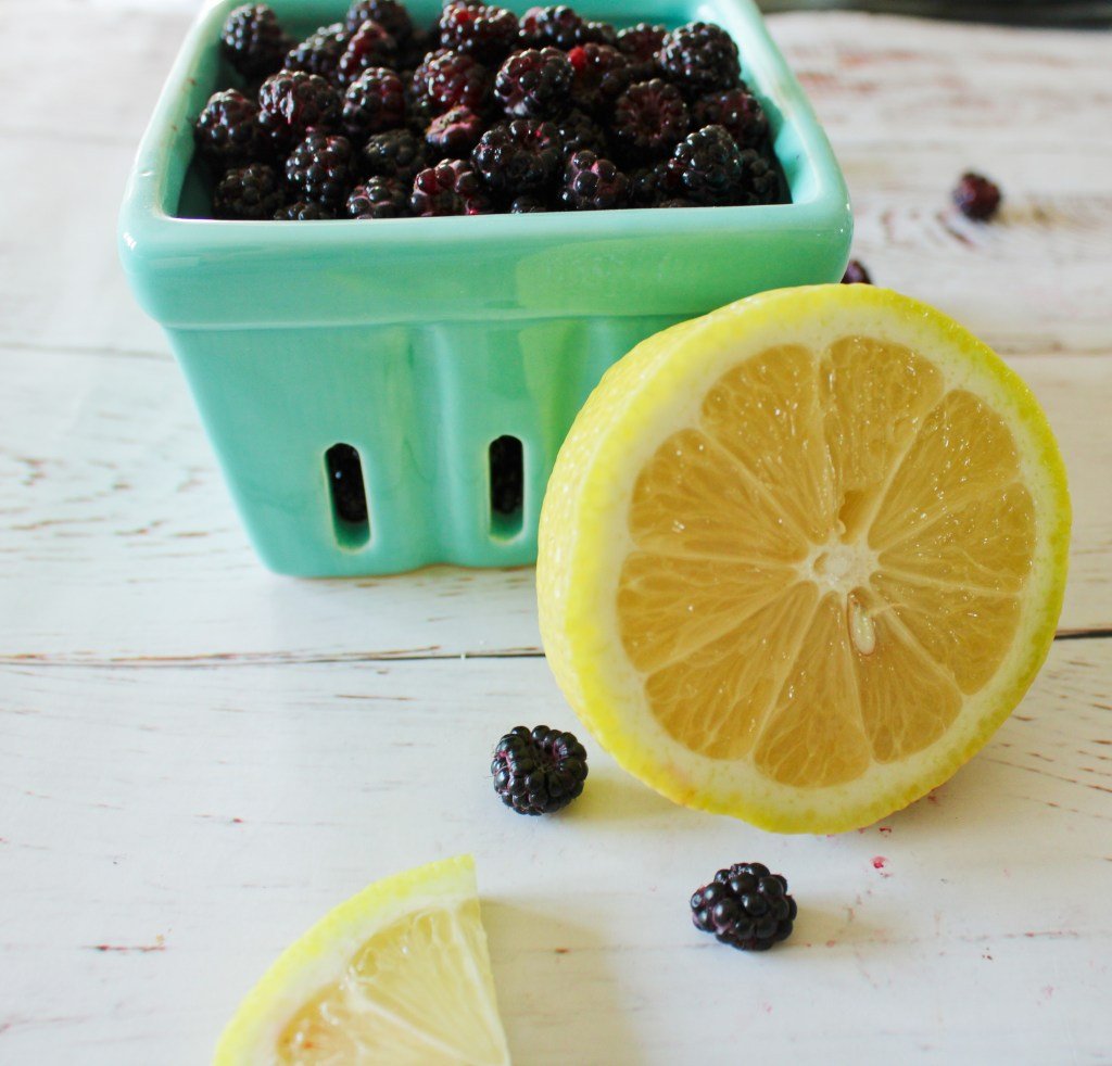 Lemon and black raspberries