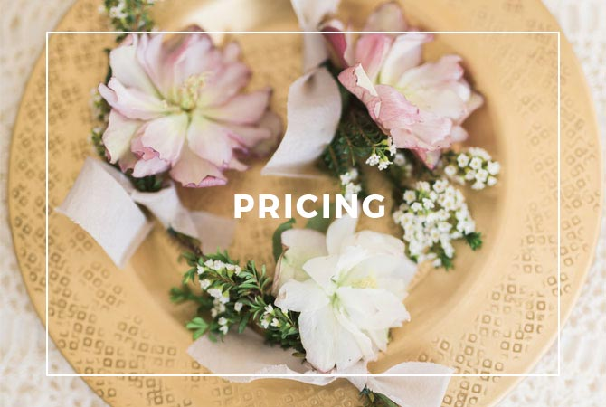 Contact us for custom pricing for Roots Floral Design for your wedding