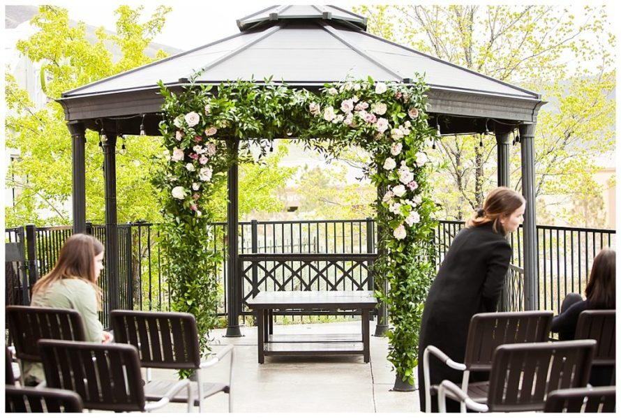 gazebo wedding draper utah wedding