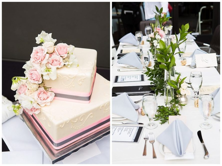 rose cake garden pink roses wedding