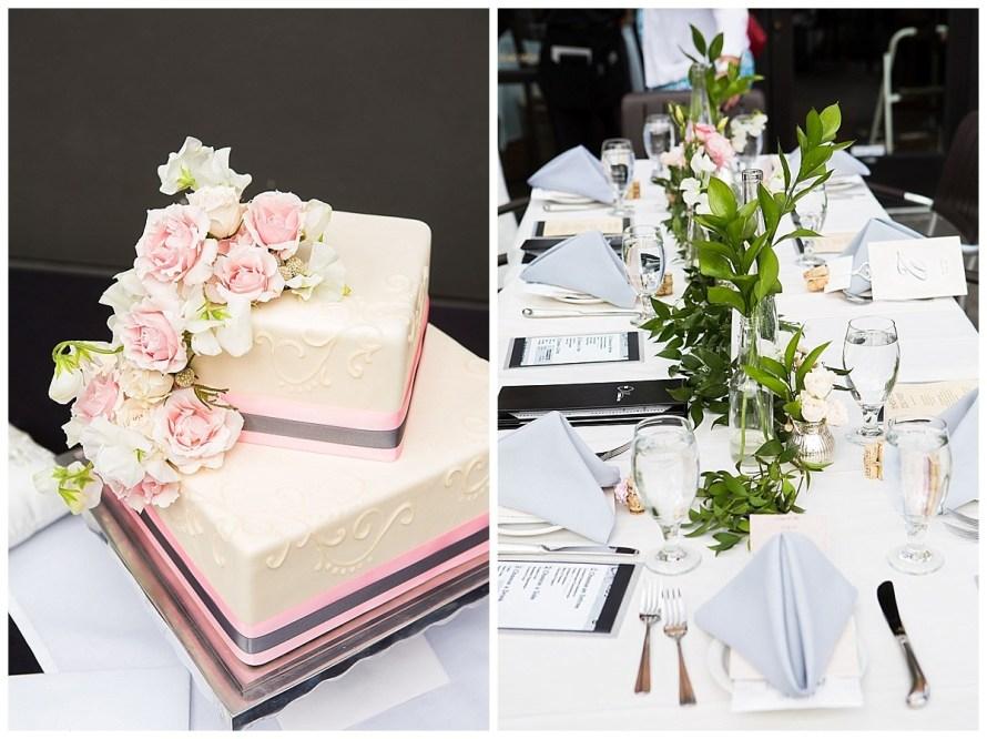 rose cake garden pink roses wedding