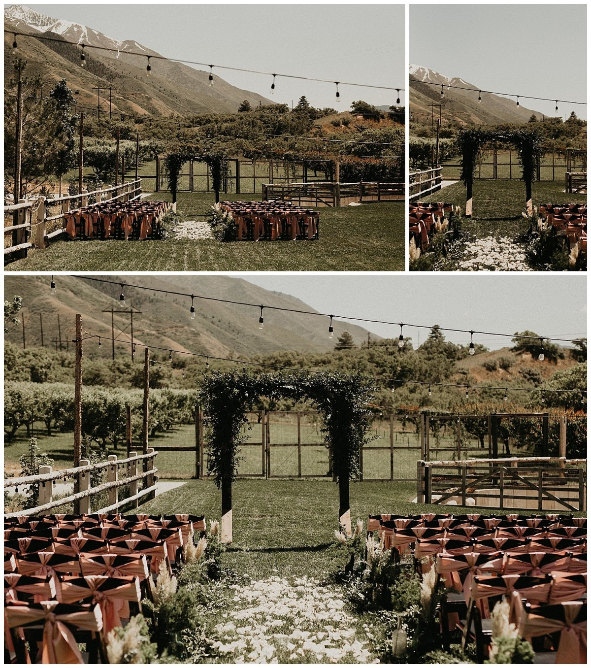 Rustic Summer Wedding | Quiet Meadow Farms | Ceremony Arch