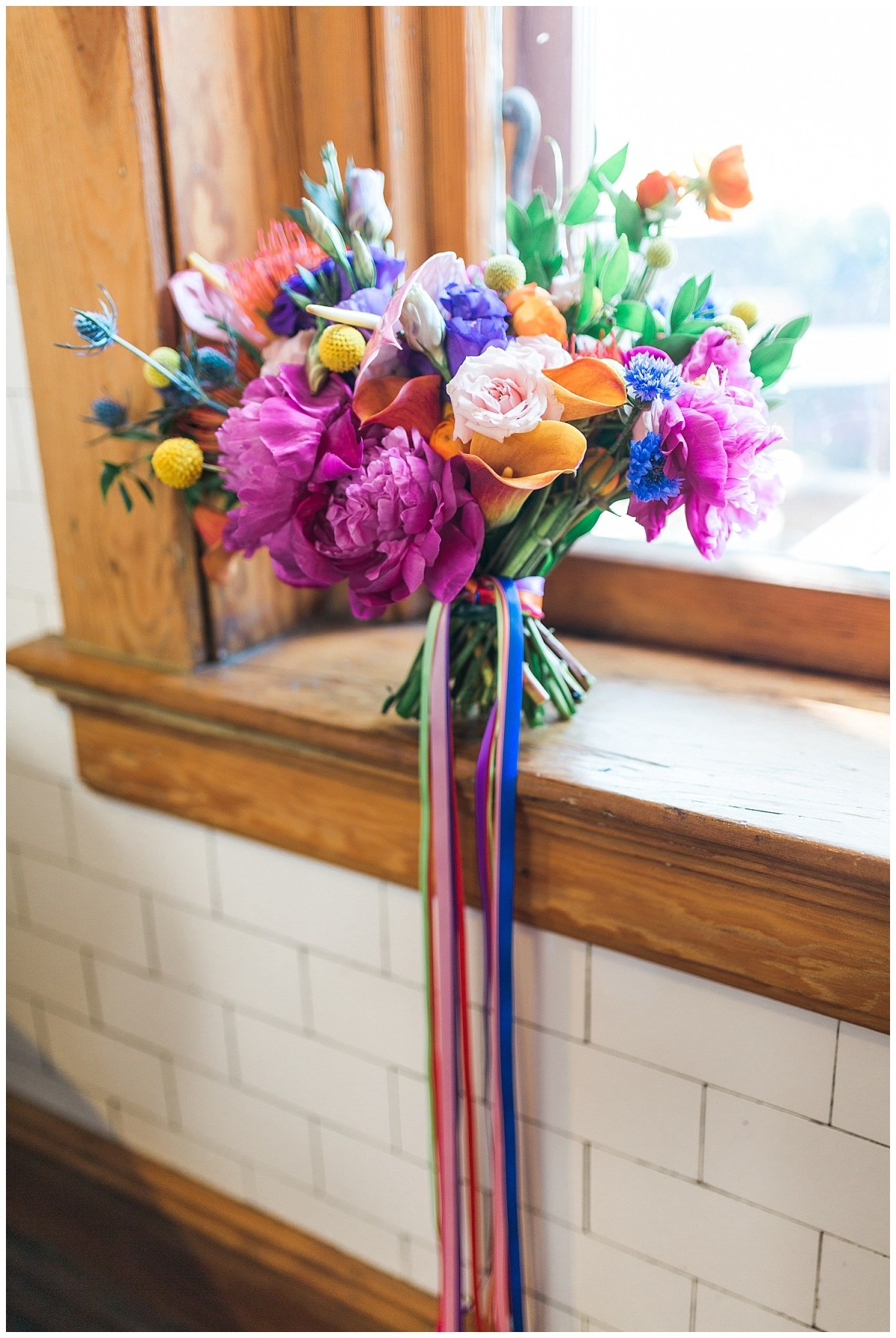 Colorful Bouquet Summer Wedding