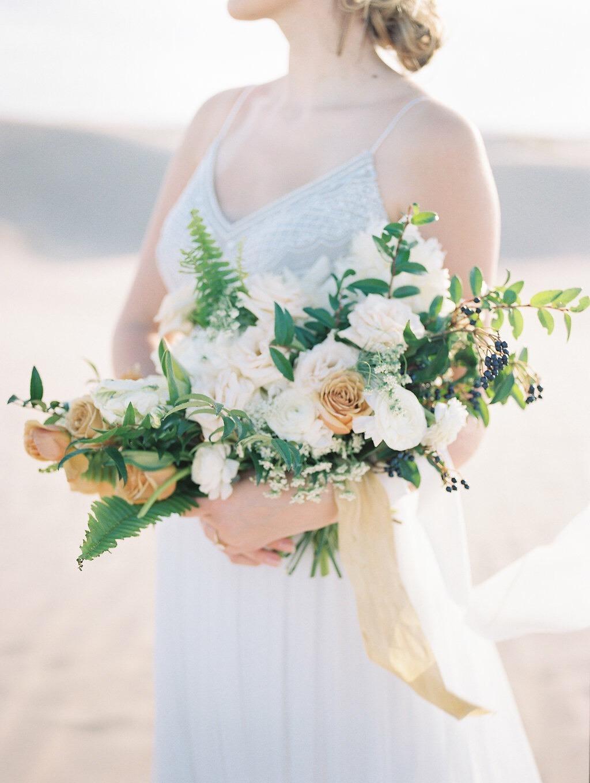 Cream Gold and Navy Wedding Bouquet