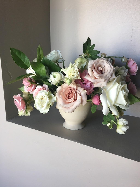 Cream Blush and Champagne Wedding Florals