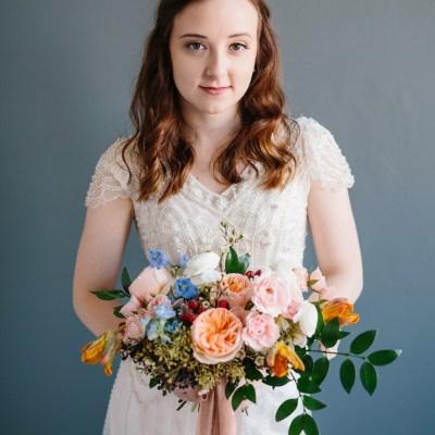 Colorful Bridal Portraits | Ohio Wedding Florist