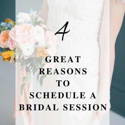 4 Great Reasons to Schedule a Bridal Portrait Session | Ohio Wedding Florist
