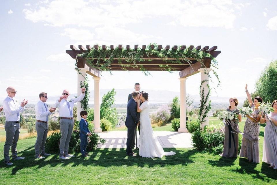 Ceremony installation greenery