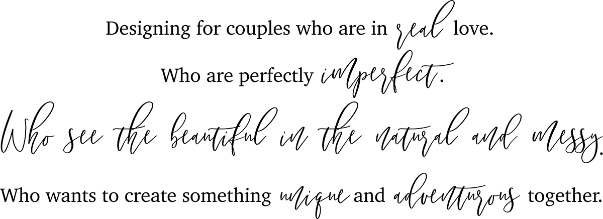 Designing for couples who are in Real Love