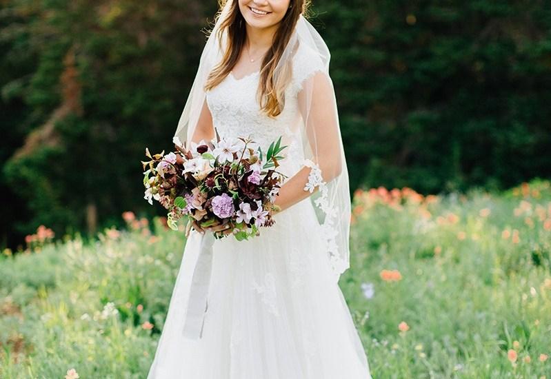 Romantic Mountainside Bridal Session | Kentucky Wedding Florist