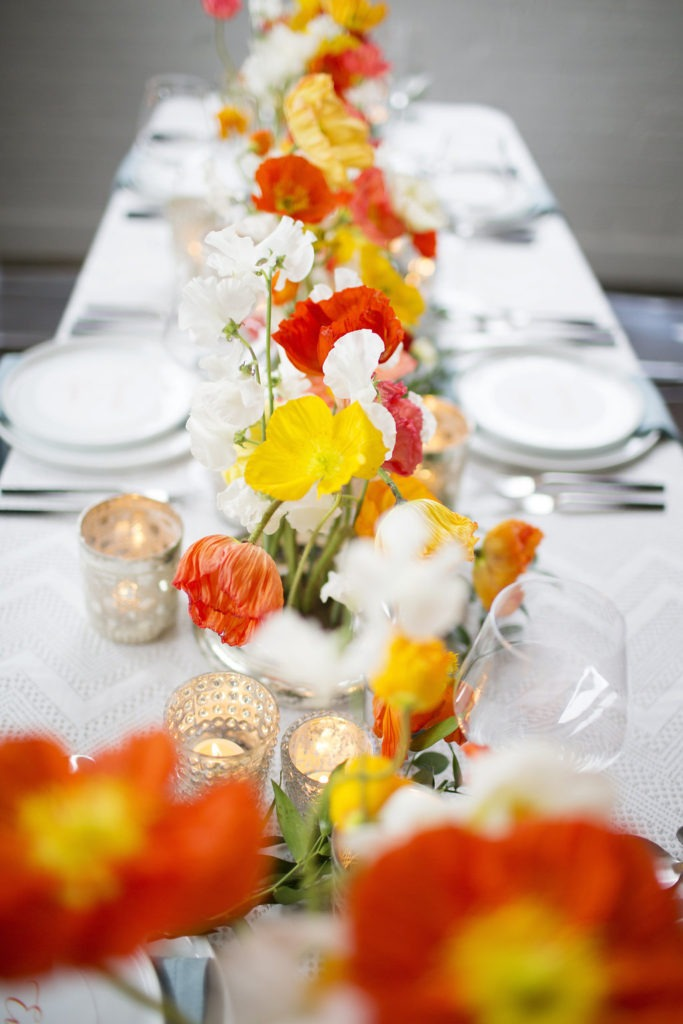 Modern and Colorful Wedding Centerpiece