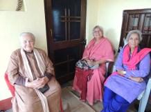 From the left: my landlady Didi, her friend Monisha, and Kishwar, my neighbor