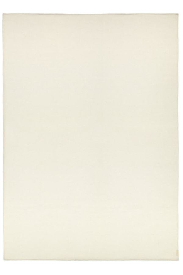 White Plain Wool Rug