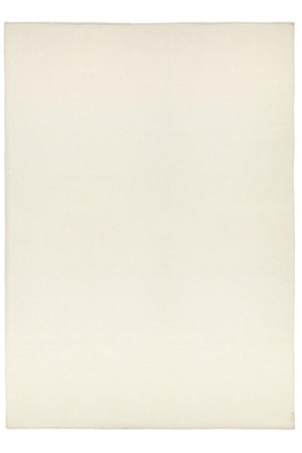 White Plain Wool Rug